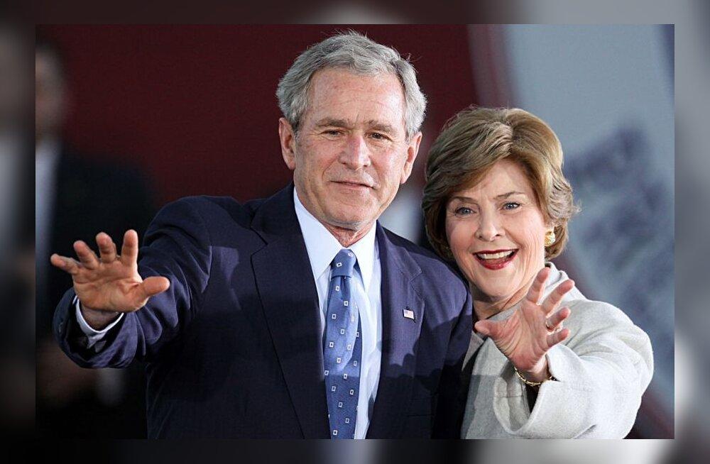 George ja Laura Bush