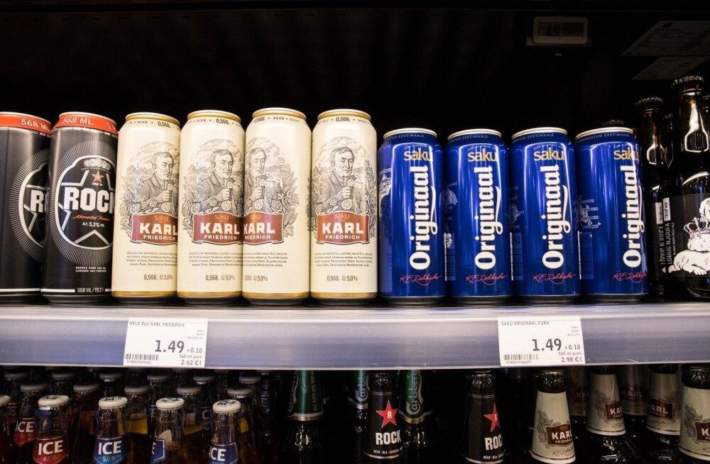 ГРАФИК: Полтора евро за эстонское пиво в магазине: теперь не миф, а реальность