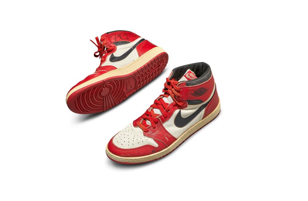 Michael Jordani legendaarsed ketsid müüdi oksjonil rekordilise hinna eest
