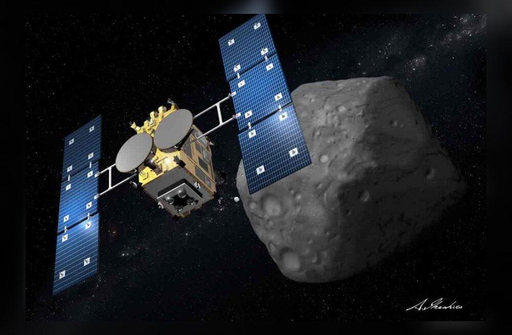 Jaapani kosmosesond Hayabusa 2 on teel asteroidile koos kulgurite ja maanduriga