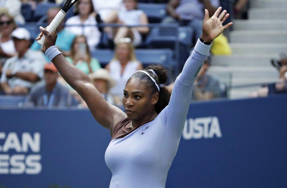 Serena Williams jõudis US Openil finaali