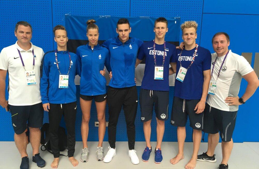 Viis Eesti ujujat jõudsid Euroopa noorte olümpiafestivalil poolfinaalidesse