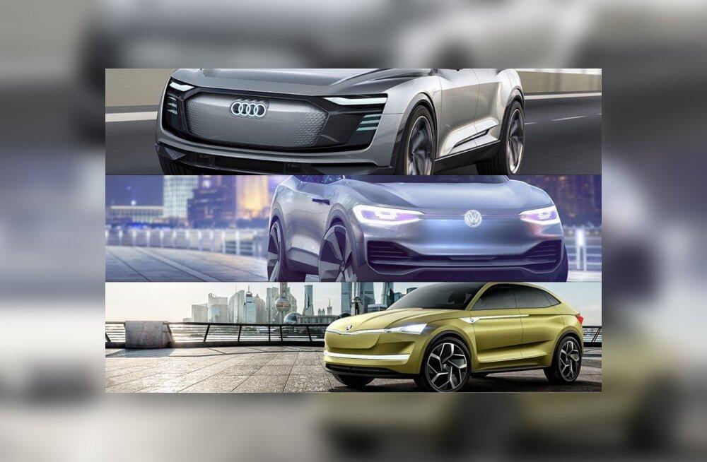 Nagu kolm tilka vett: Volkswageni grupp esitles Shanghai autonäitusel kolme e-ideeautot