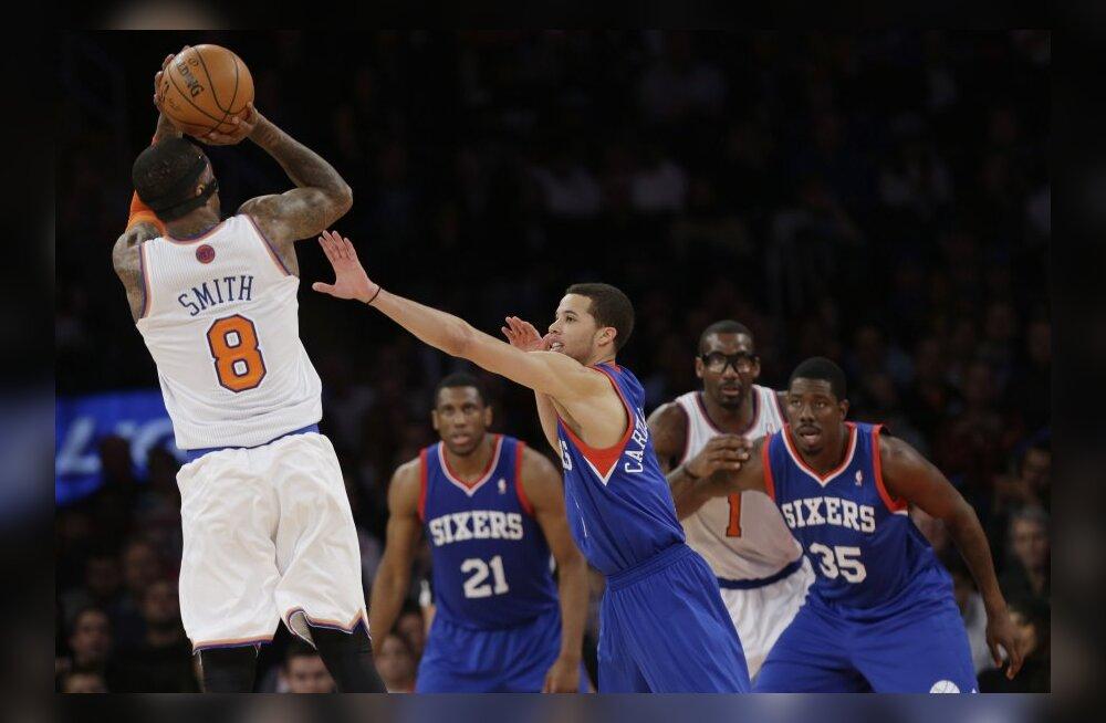 Knicks kinkis 76ersile 17. järjestikuse kaotuse, Miami kindlustas play-off koha