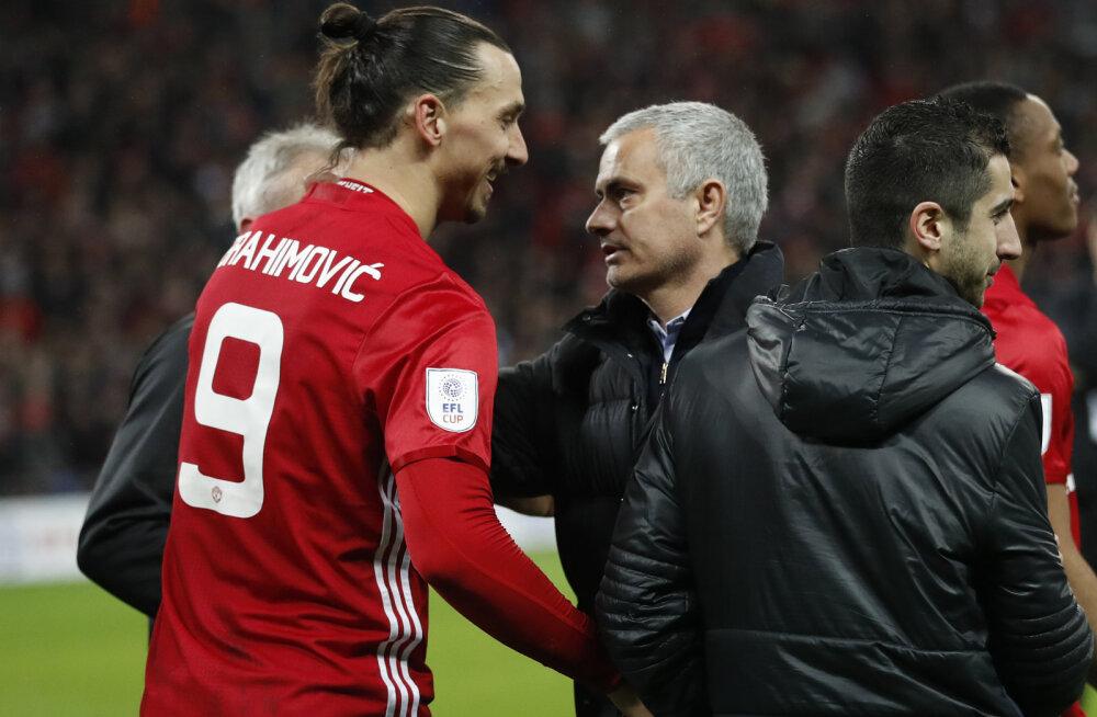 Zlatan Ibrahimovic ja Jose Mourinho