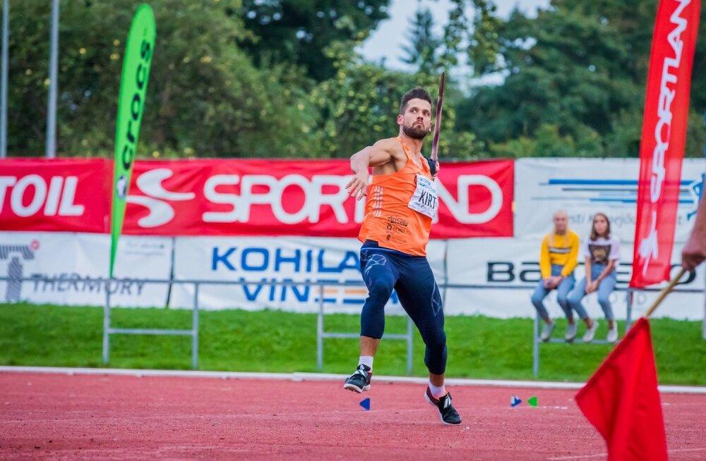Magnus Kirt Kohilas võistlemas
