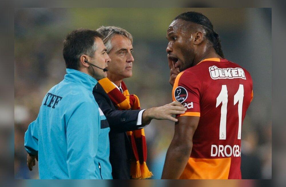 Roberto Mancini ja Didier Drogba