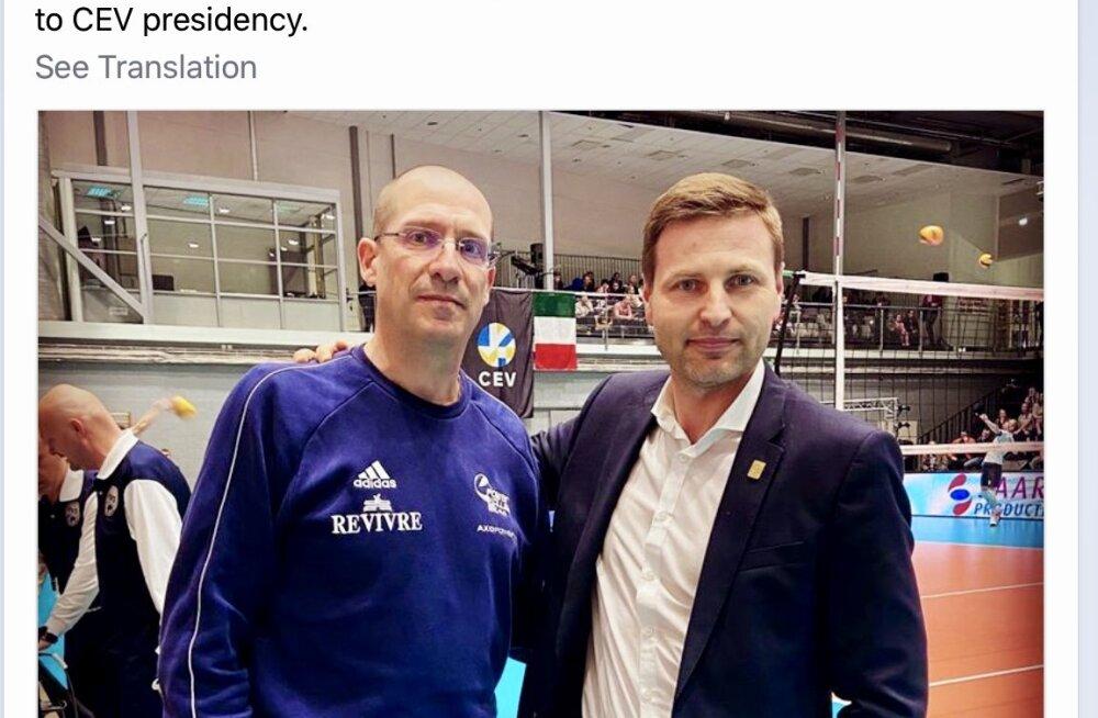 FOTO | Kas skandaalsed võrkpallikohtumised Milano klubiga toimusid Hanno Pevkuri suure lobitöö tõttu? Pevkur: see oli ikka Saaremaa klubi initsiatiiv