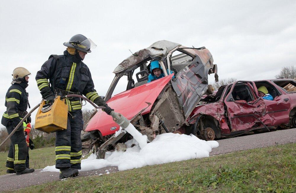 Liiklusavarii õppus Kuressaare lähistel