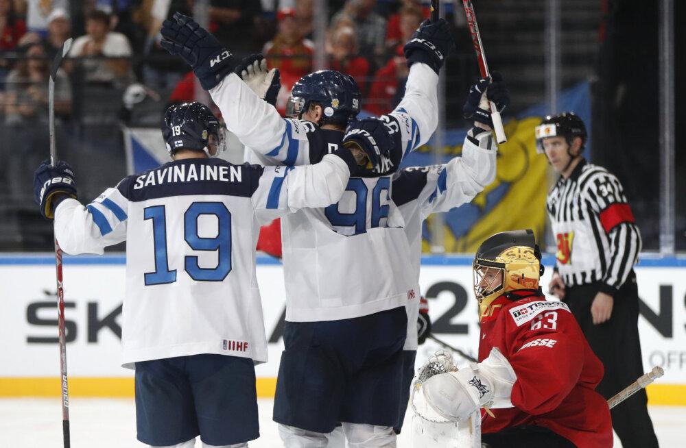 Soome pööras 0:2 kaotusseisu Šveitsi vastu lisaajavõiduks