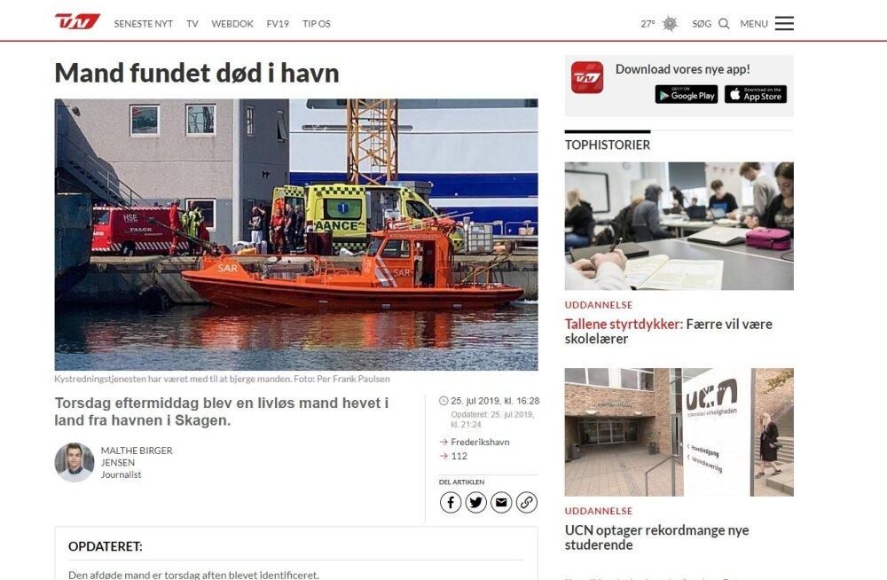 Taani sadamas leiti veest surnuna Eesti meremees