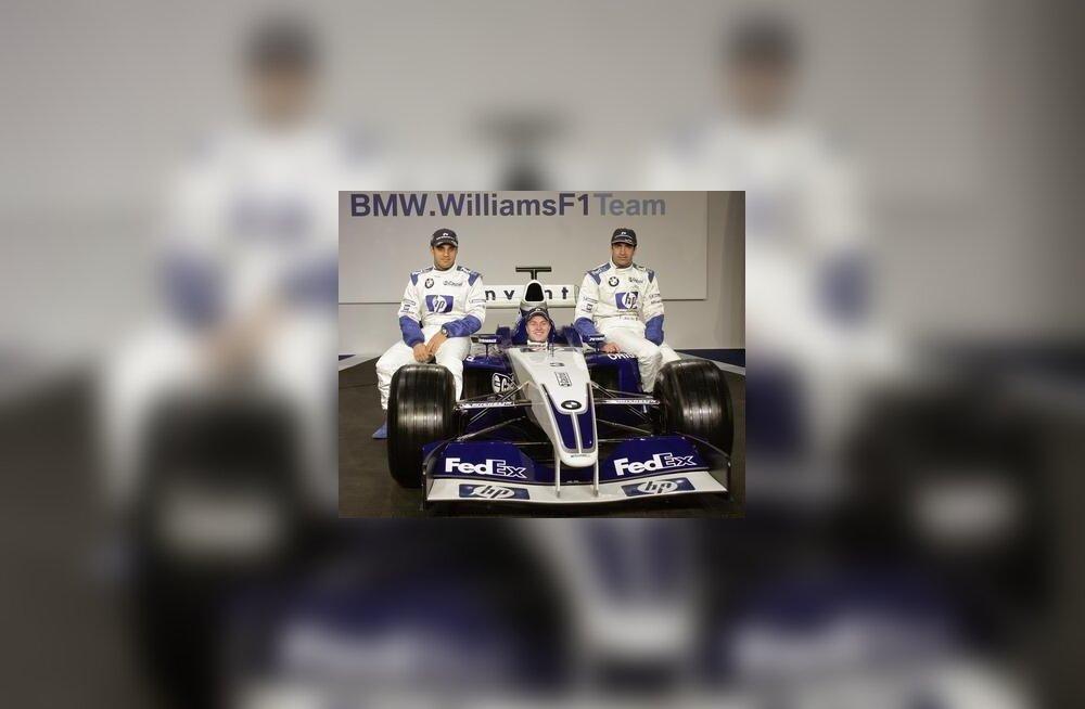 Juan-Pablo Montoya, Ralf Schumacher Williams FW25-s ja Marc Gene
