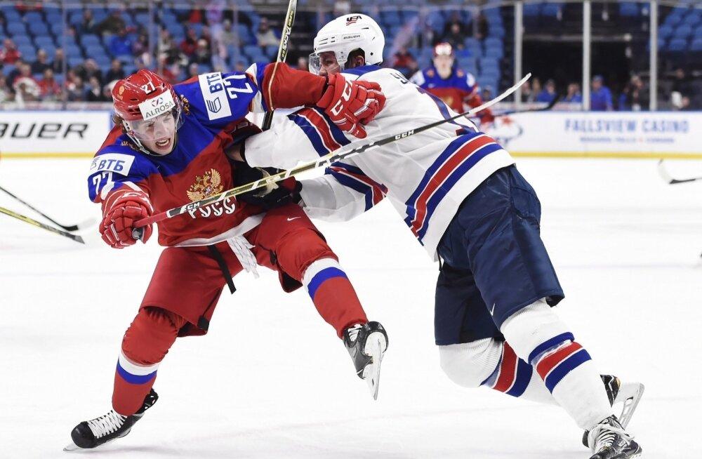 Jäähoki U20 MM-i veerandfinaal USA - Venemaa
