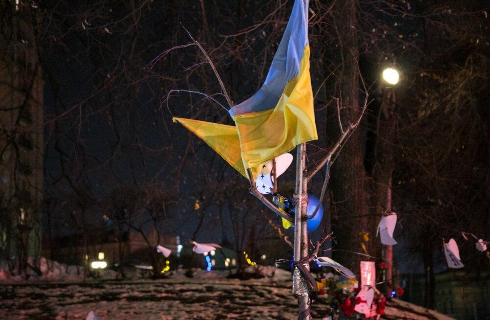 Peaminister osaleb Maidani meeleavalduse aastapäeva tähistaminel Kiievis