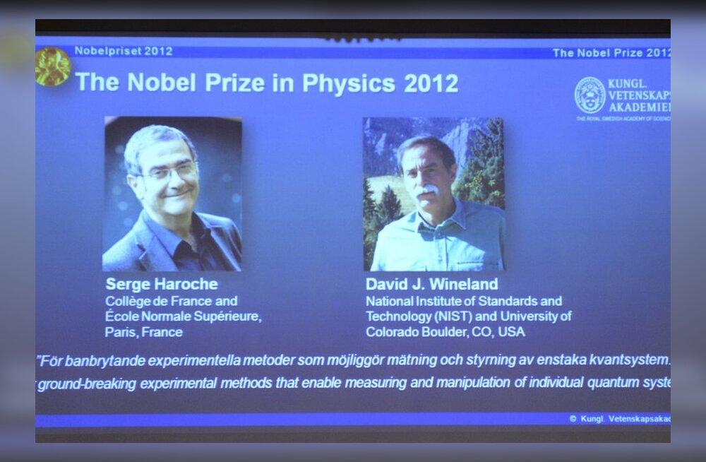 Nobeli füüsikapreemia pälvisid prantsuse ja USA kvantfüüsikud