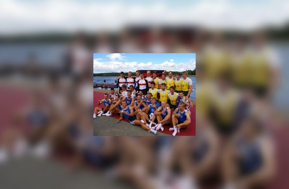 U23 MMi kaheksapaatide võistluse medalikolmik