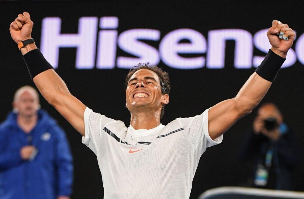 Dimitrov ja Nadal pääsesid viimastena poolfinaali