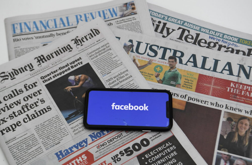 Facebook blokeeris austraallaste jaoks uudiste vaatamise ja jagamise