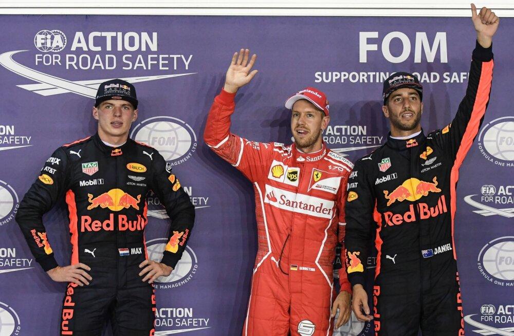 Sebastian Vettel alustab homme Singapuris esikohalt
