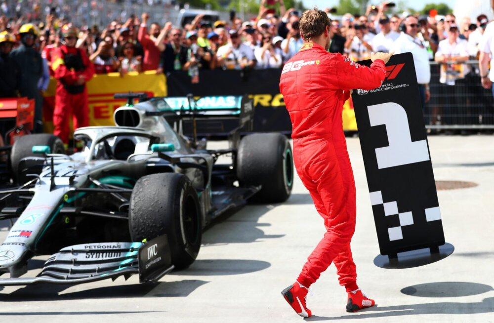 VIDEO | Pettunud Vettel näitas sümboolse liigutusega, mida kohtunike otsusest arvas