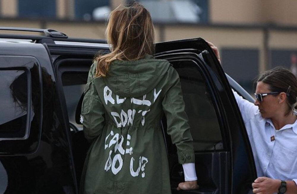 ФОТО: Надпись на плаще Мелании Трамп возмутила общественность
