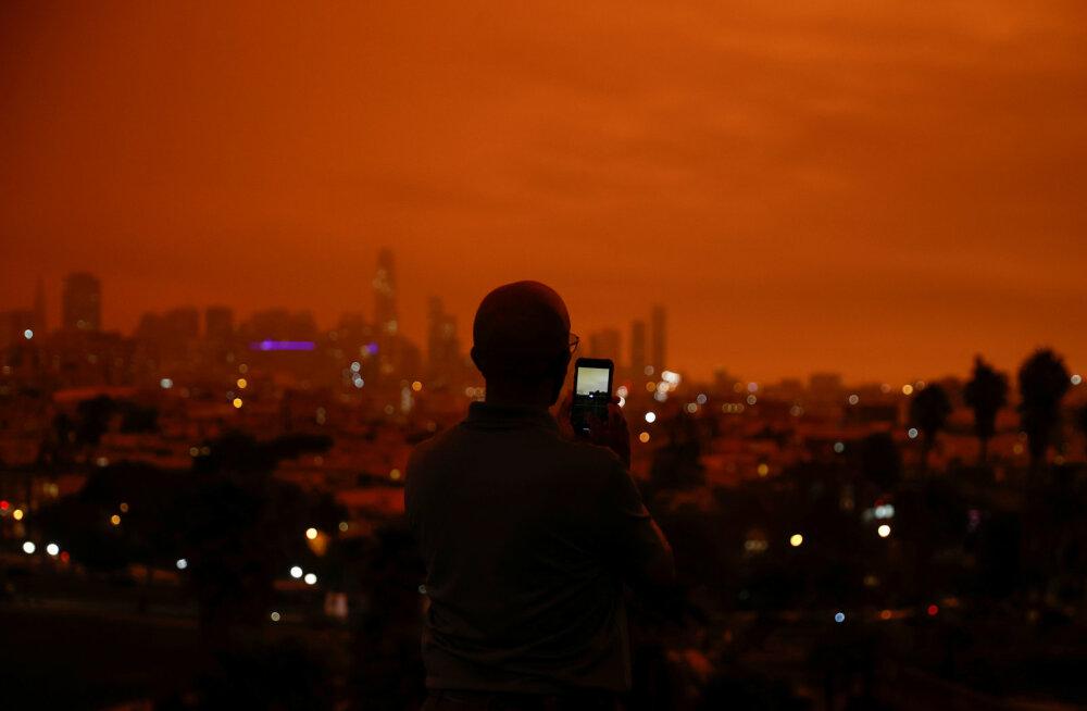 FOTOD   Maailmalõpp? Ei, USA läänerannikut räsivad tulekahjud