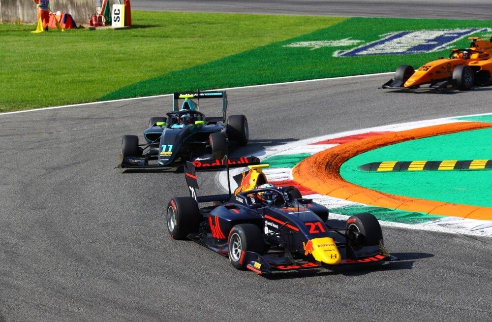 Jüri Vips F3 Monza GP esimeses sõidus