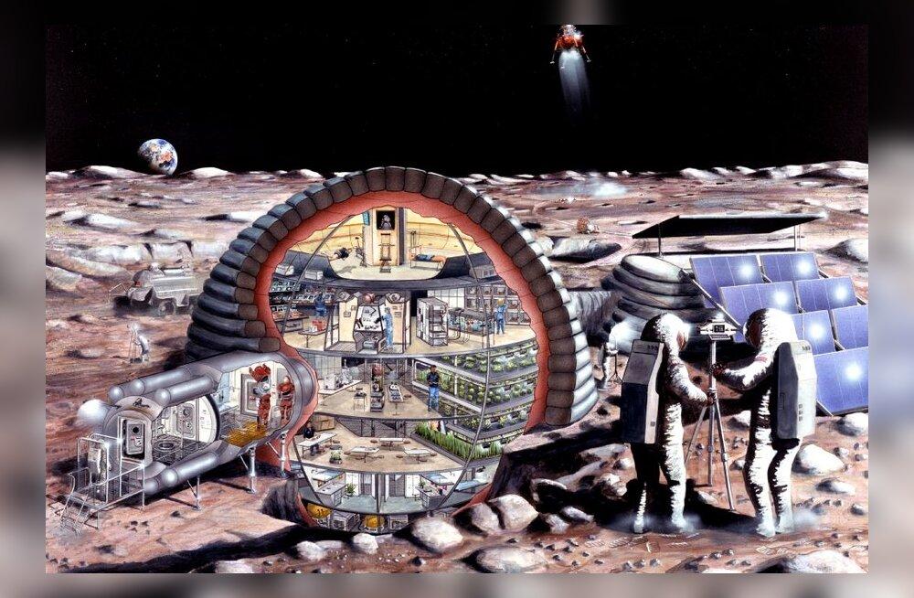 Selline võiks välja näha inimeste koloonia Kuu peal. Kümne aasta pärast juba?