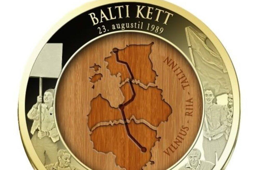 Maaleht tõi müüki Balti keti 30. aastapäeva meenemedali