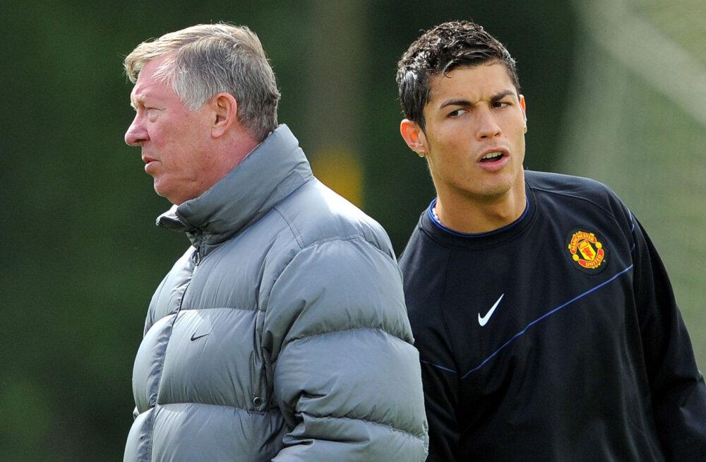 Sir Alex Ferguson ja Cristiano Ronaldo