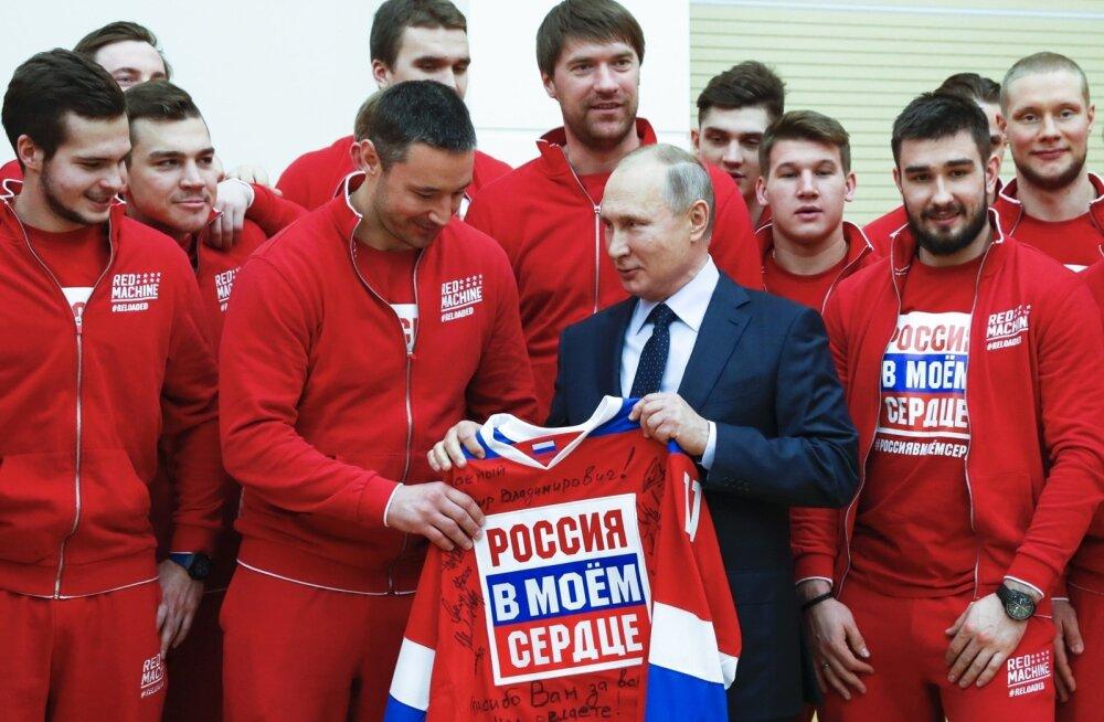 Vladimir Putin ja Venemaa olümpiakoondis