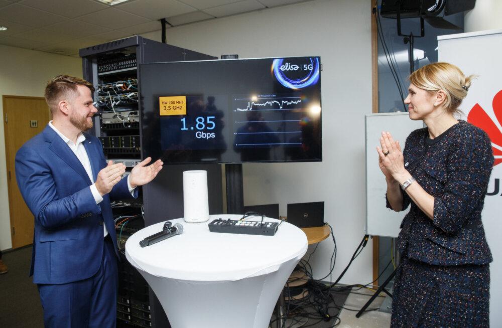 Elisa saavutas 5G-võrgu testis mobiilse interneti kiiruseks 1,8 Gbit/s