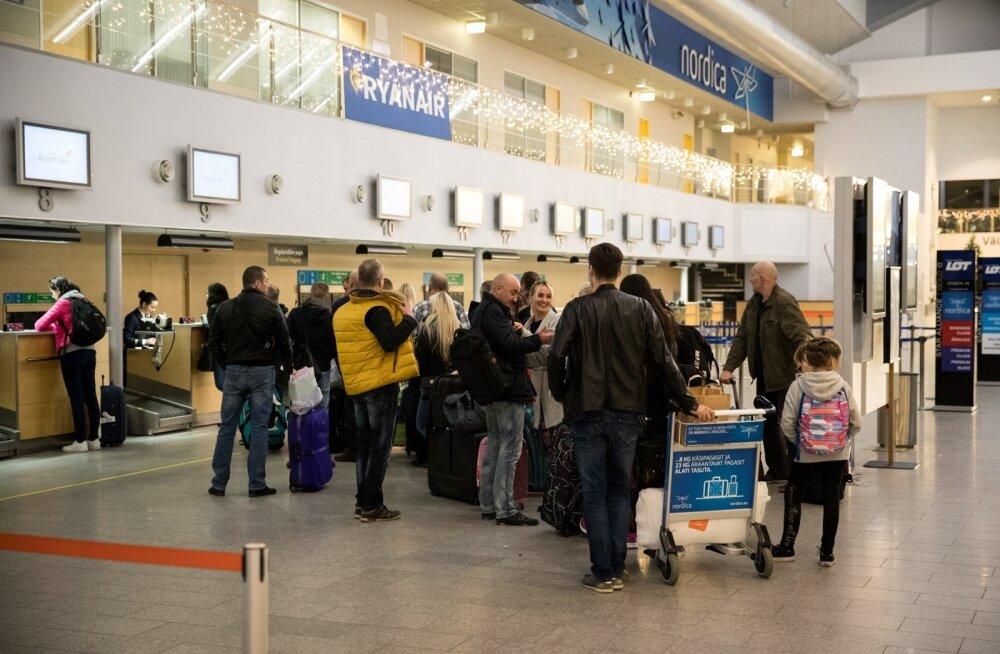 Reisijad lennujaamas