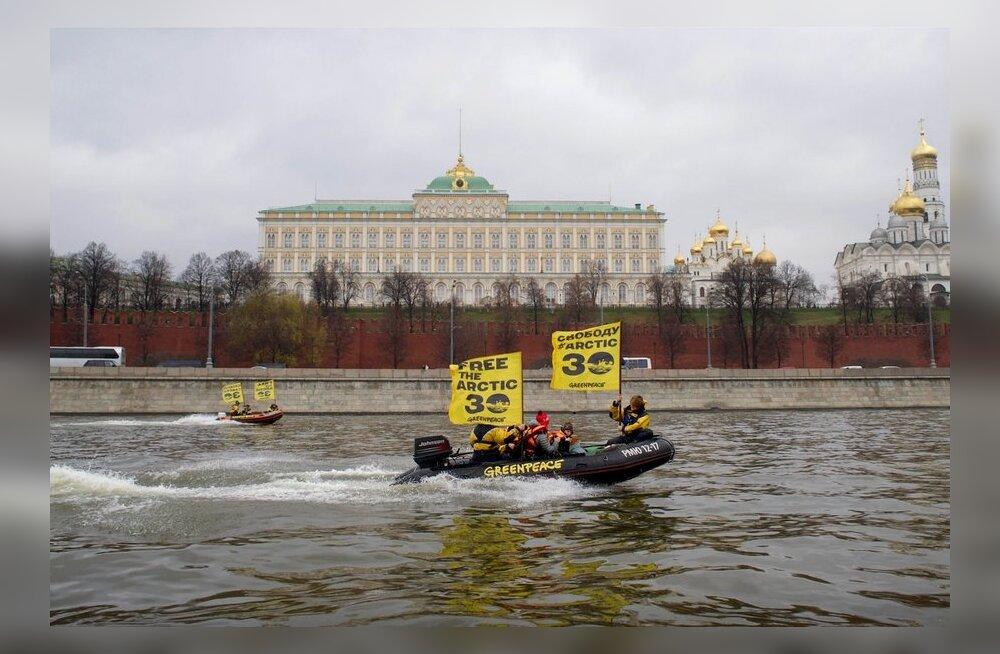 Moskva jõel vahistati Greenpeace'i aktivistid
