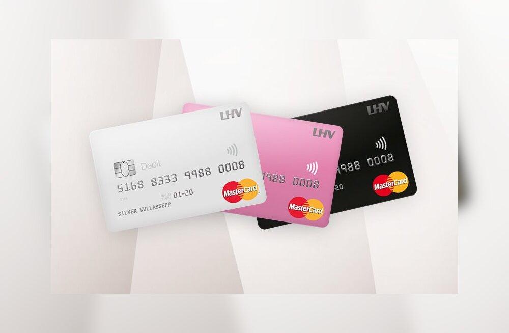 LHV uued pangakaardid pakuvad kõik viipemakset