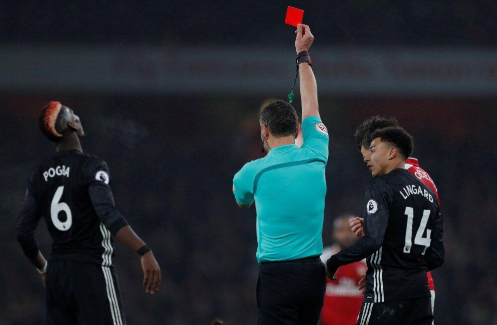 VIDEO | Manchester United sai Arsenali üle võõrsil magusa võidu, jõhkrutsenud Pogbale näidati punast kaarti