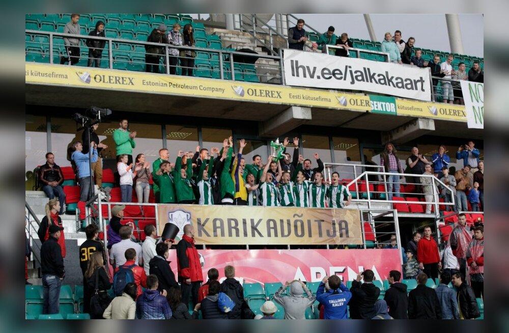 Eesti jalgpalli karikafinaal FC Flora- JK Nõmme Kalju