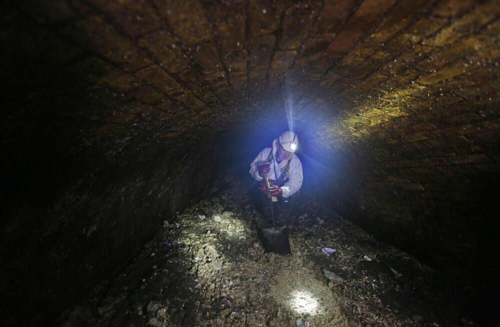 Londoni kanalisatsioonisüsteemis laiutab veerand kilomeetri pikkune rasva- ja saastamägi