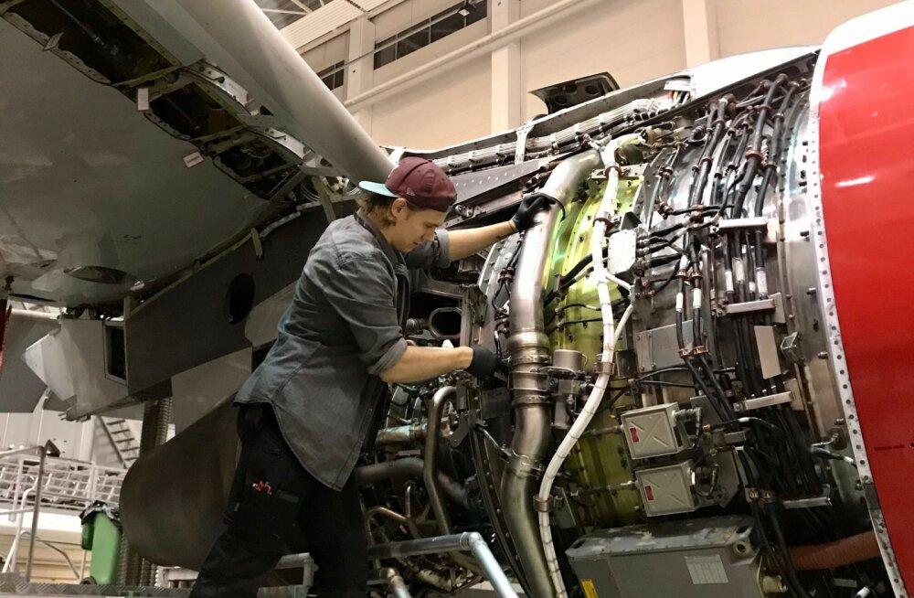 Värske Magnetic MRO lennumehaaniku õpipoisi programmi lõpetaja Kevin Parras.