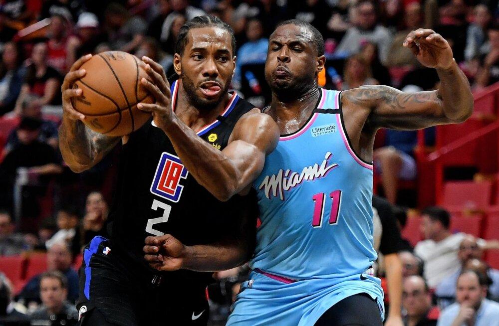 Kawhi Leonard (vasakul) mängus Miami Heati vastu.