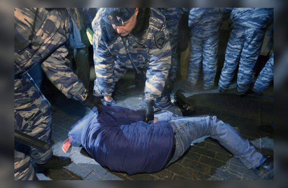Meeleavaldaja vahistamine Moskvas 30. detsembril 2014