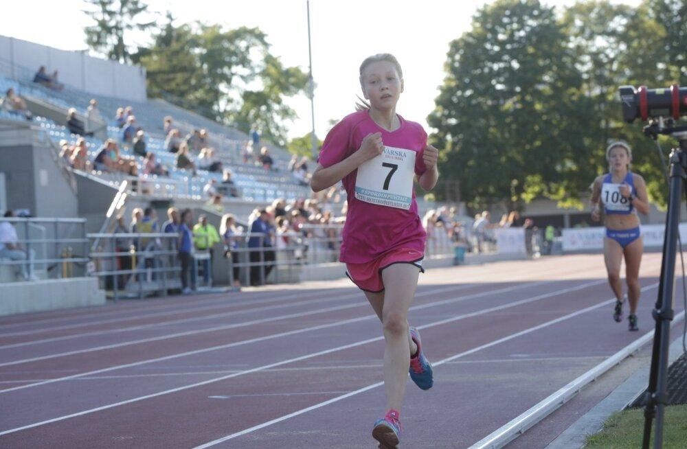 VIDEO | 13aastane Luna võttis Jekaterina Patjuki pakutud tempo taas kartmatult vastu ja uuendas rekordit