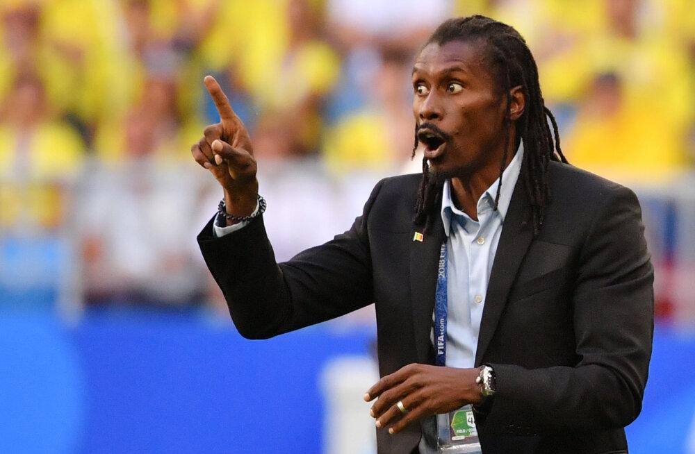 Kollaste kaartide tõttu kaheksandikfinaalist välja jäänud Senegali peatreener: me ei väärinud edasipääsu