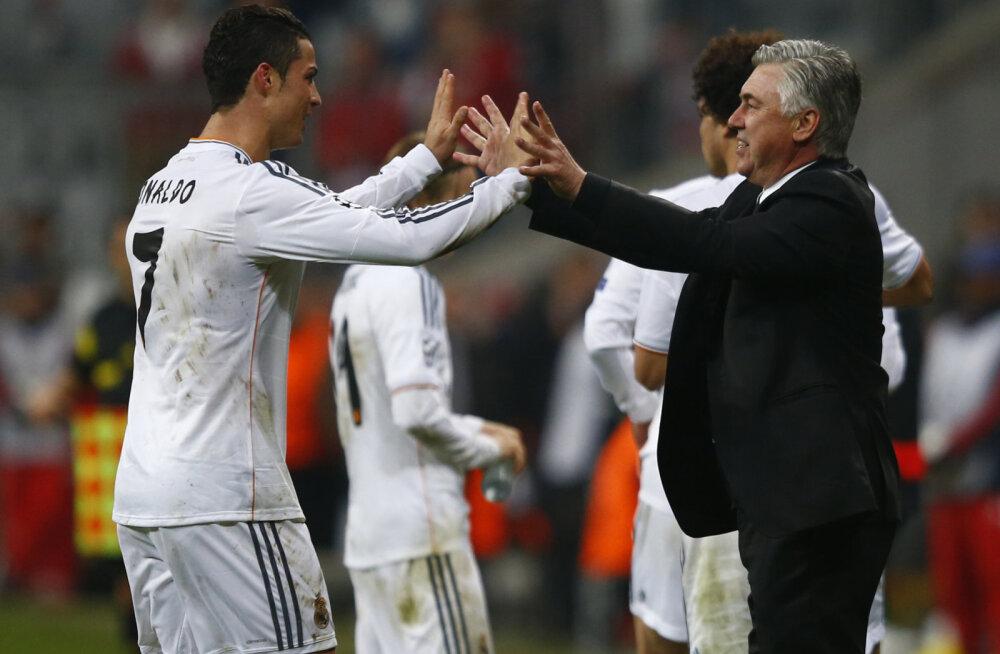 Cristiano Ronaldo ja Carlo Ancelotti