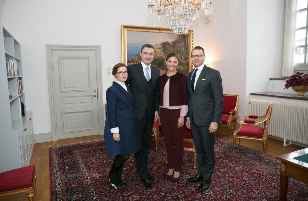Taavi Rõivas ja Luisa Värk Rootsis