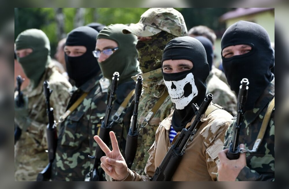 "Добровольцы батальона Нацгвардии ""Донбасс"". 23 июня 2014."