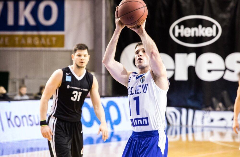 Tartu Ülikool alistas 87:78 Tallinna Kalev/TLÜ meeskonna