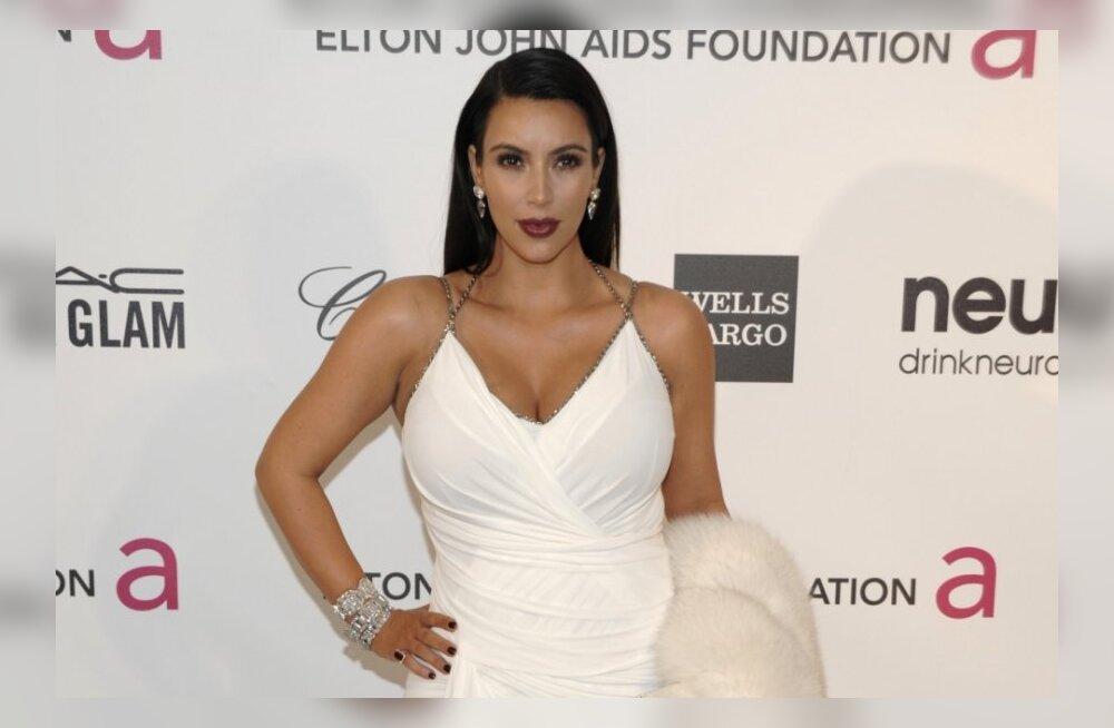 FOTOD: Beebikõhuga Kim Kardashian läks lahutama liibuvas nahkseelikus