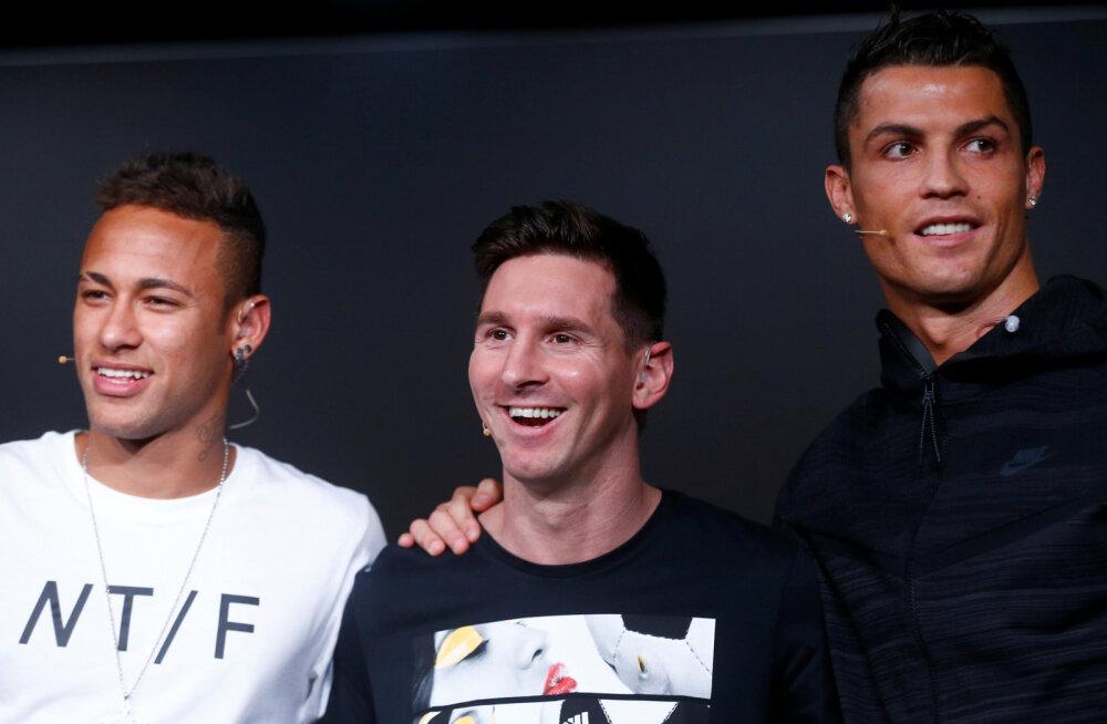 Neymar, Messi ja Ronaldo
