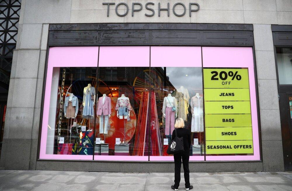 Kauplus Londoni Oxford Streeti ostutänaval.